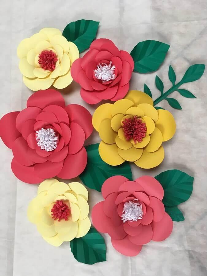 cores para maxi flor de papel