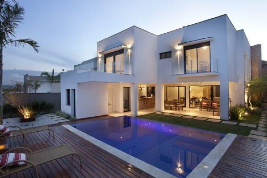 cores para pintar casa com piscina