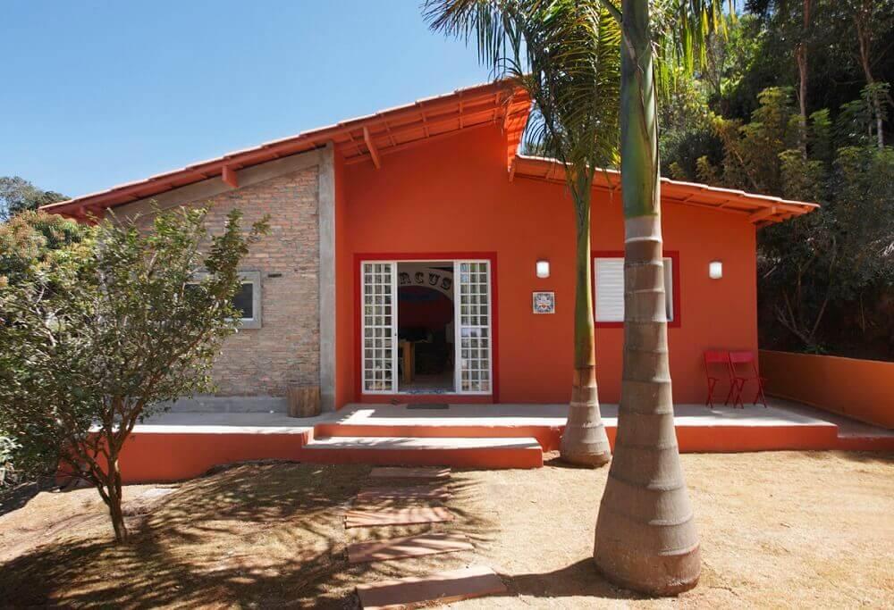cores para pintar casa laranja
