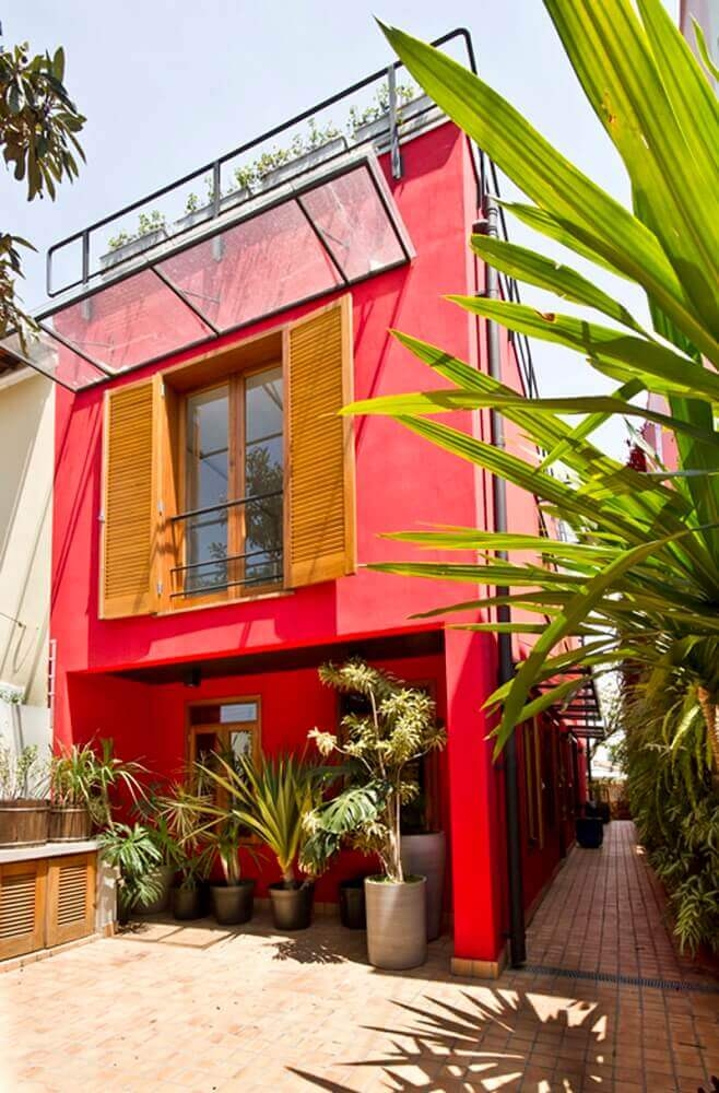 cores vibrantes para pintar casas