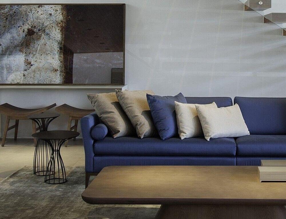 decoração com sofá para sala