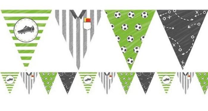 decoração da copa do mundo - bandeirinhas de futebol