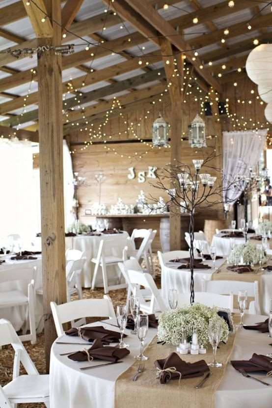 Wedding decoration Rustic indoor
