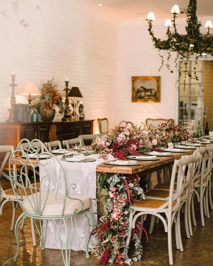 rustic wedding decoration at home Foto Nina Vintage