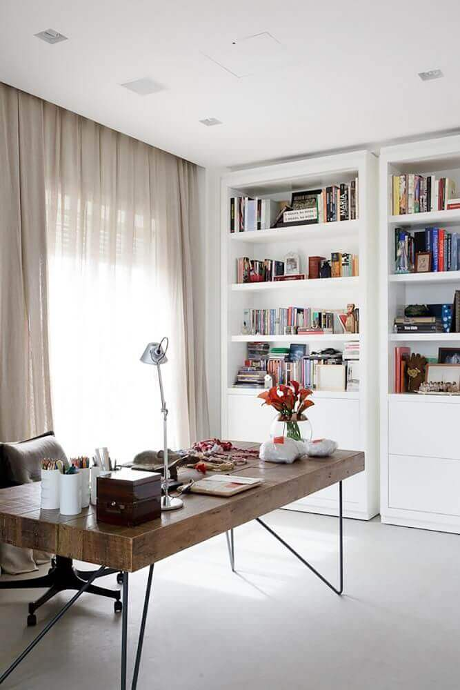 decoração de home office confortável