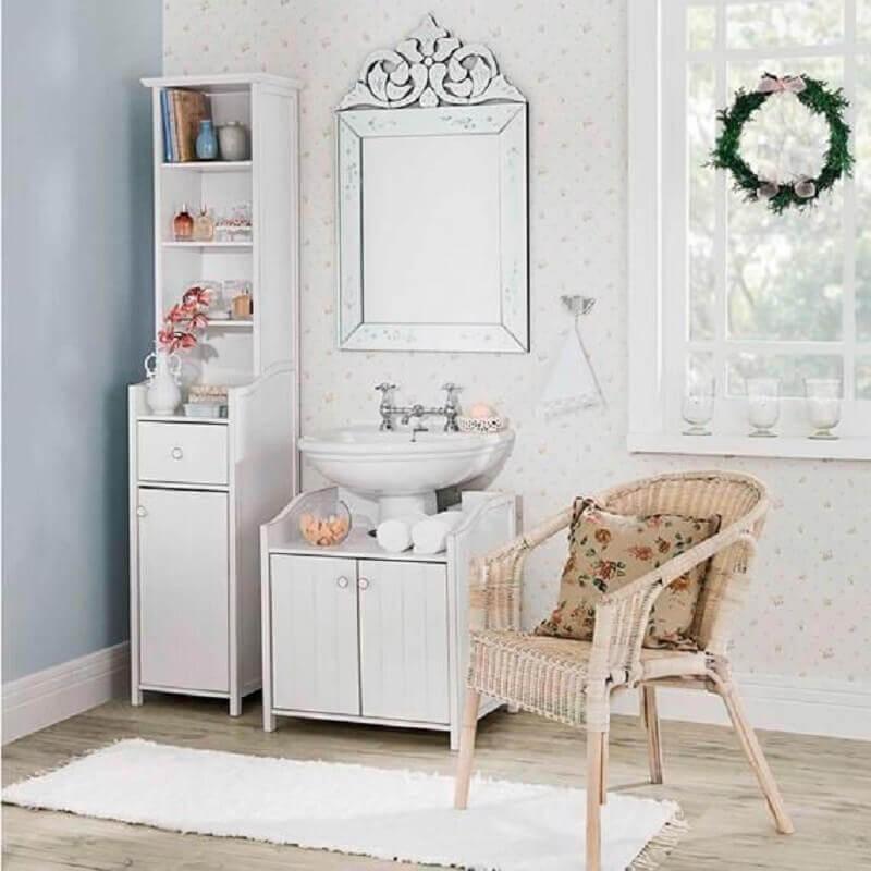 decoração de lavabo estilo provençal