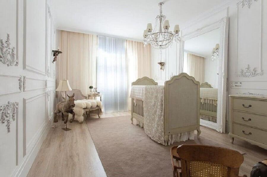 decoração de quarto de bebê feminino estilo provençal
