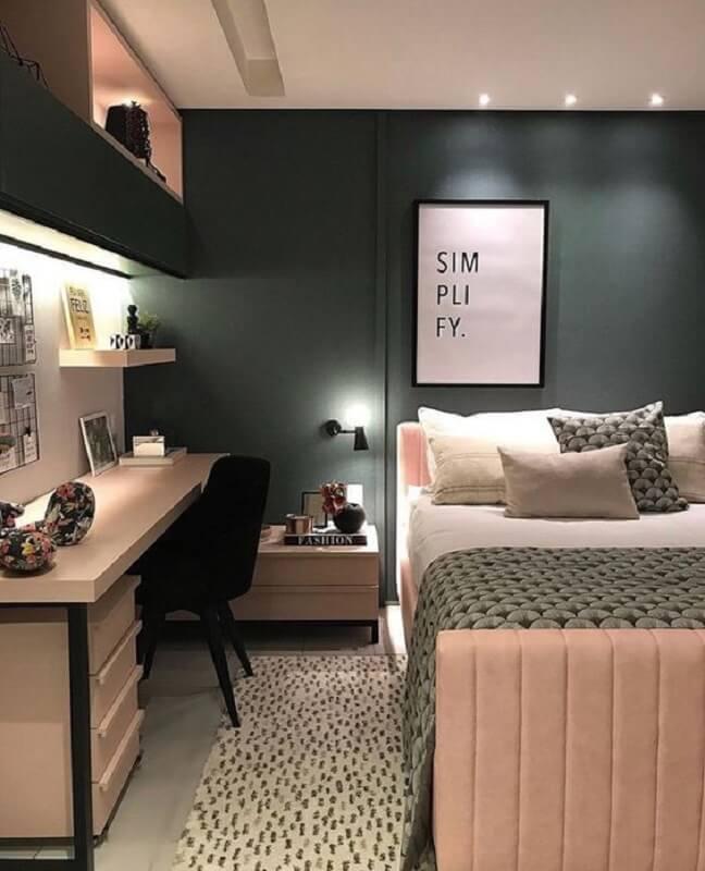 decoração de quarto feminino moderno cinza e rosa Foto Apartment Therapy
