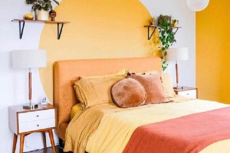 decoração de quarto feminino simples amarelo e branco Foto Apartamento 203