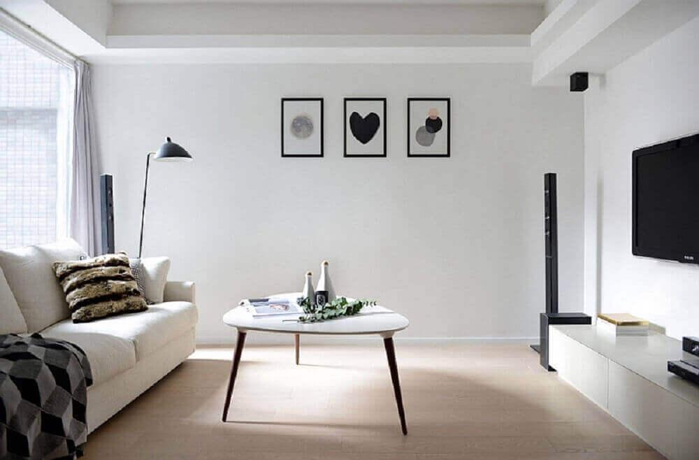 decoração de sala com quadros minimalistas
