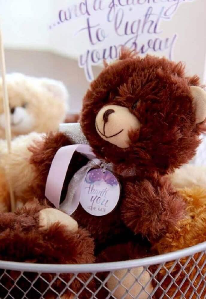 decoração para festa do pijama com ursinhos