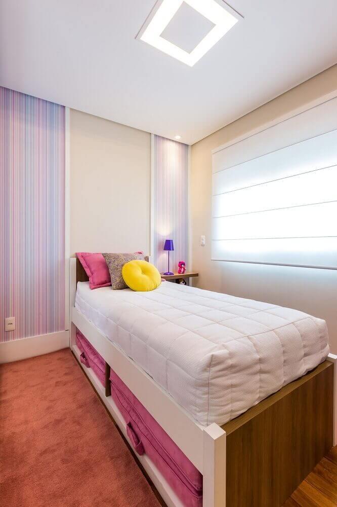 decoração para quarto feminino jovem simples
