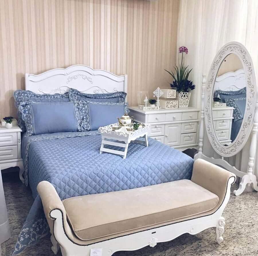 decoração para quarto provençal e romântico