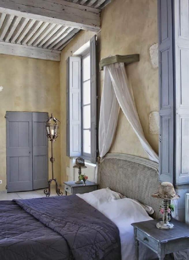 decoração quarto provençal rústico