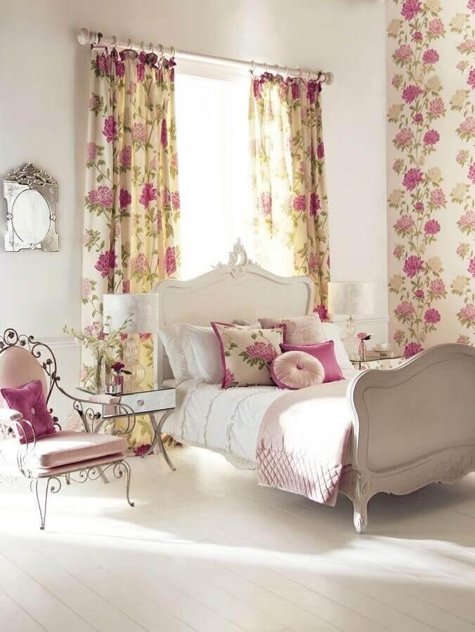 decoração romântica para quarto provençal