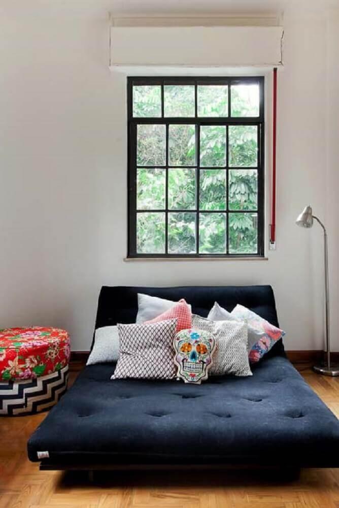 decoração simples como cama estilo japonesa