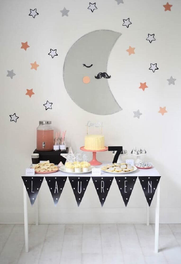 decoração simples e bonita para festa do pijama