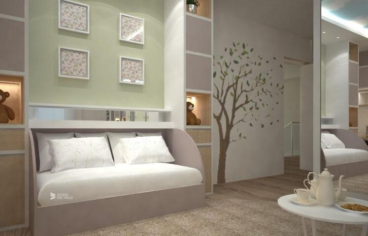 Adesivos de parede para quarto de árvore Projeto de Studio Delval