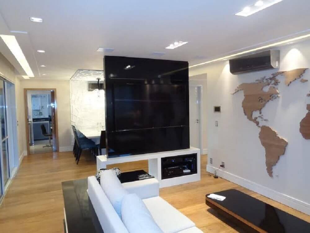 painel para sala pequena com ambiente integrado