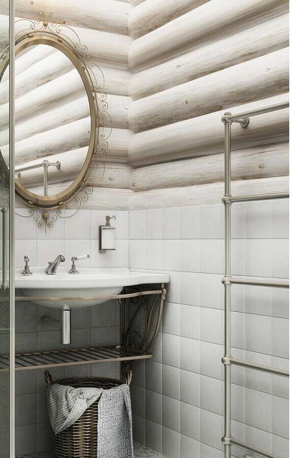 detalhes em metal para banheiro provençal