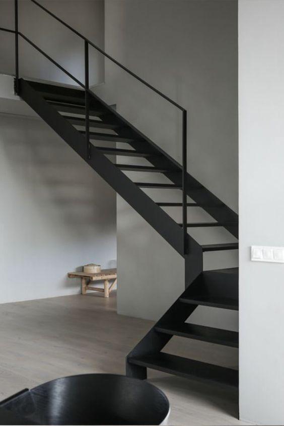 escada de ferro - escada curva de ferro