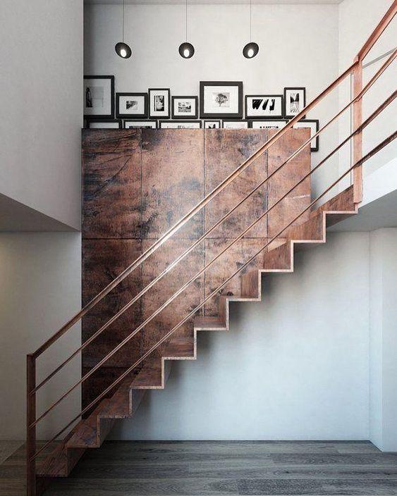 escada de ferro - escada rústica
