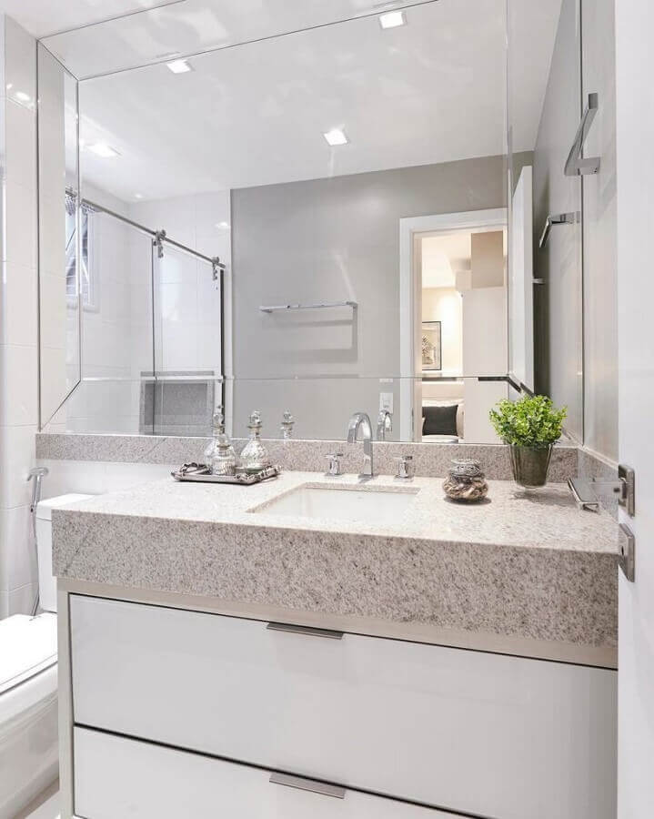 espelho bisotê para banheiro clean