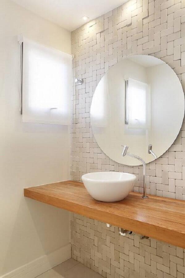 espelho bisotê redondo para banheiro