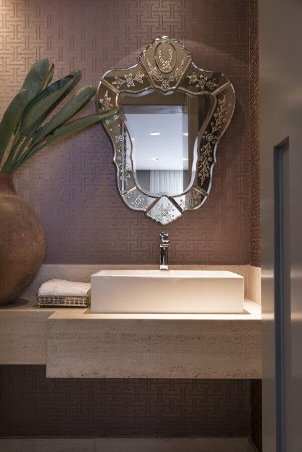 espelho bisotado com estilo provençal
