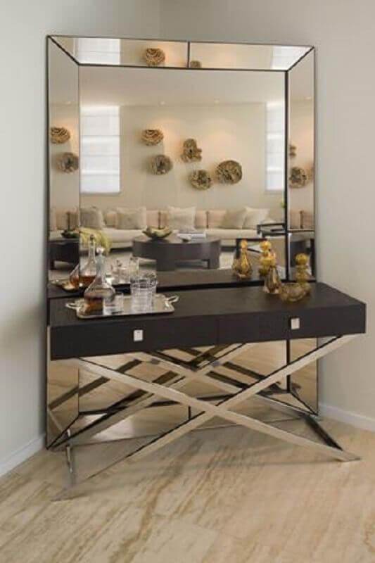 espelho bisotado de piso