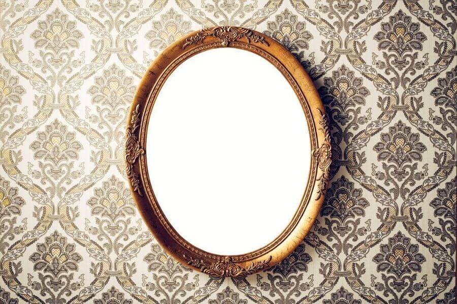 espelho com moldura estilo provençal