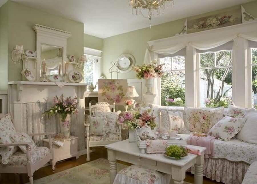 estampa floral para decoração provençal