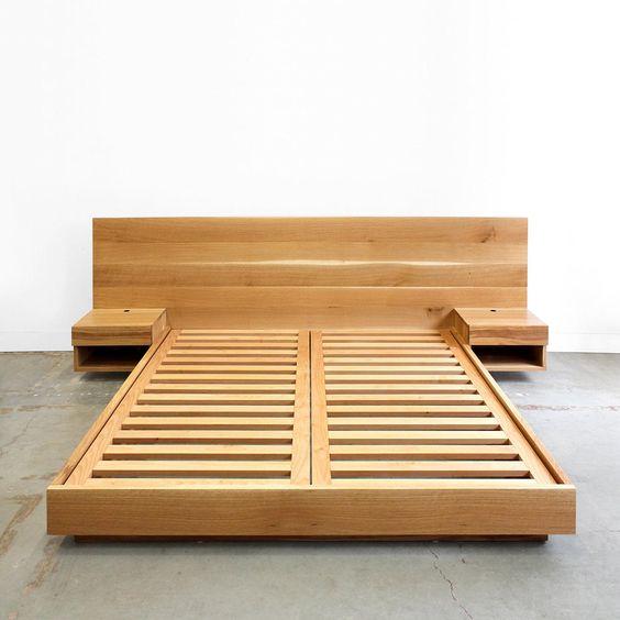 Cama com estrado para modelo de cama japonesa