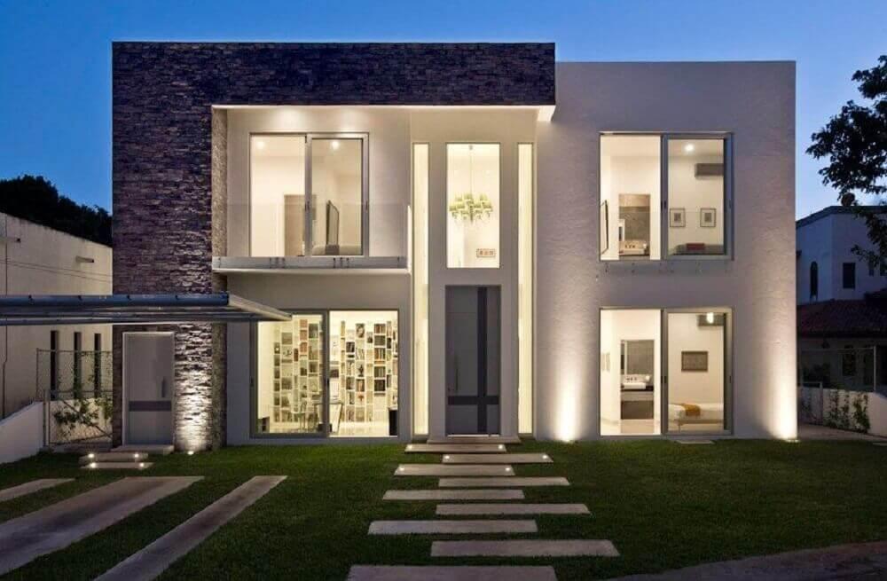 fachada de casas estilo minimalista