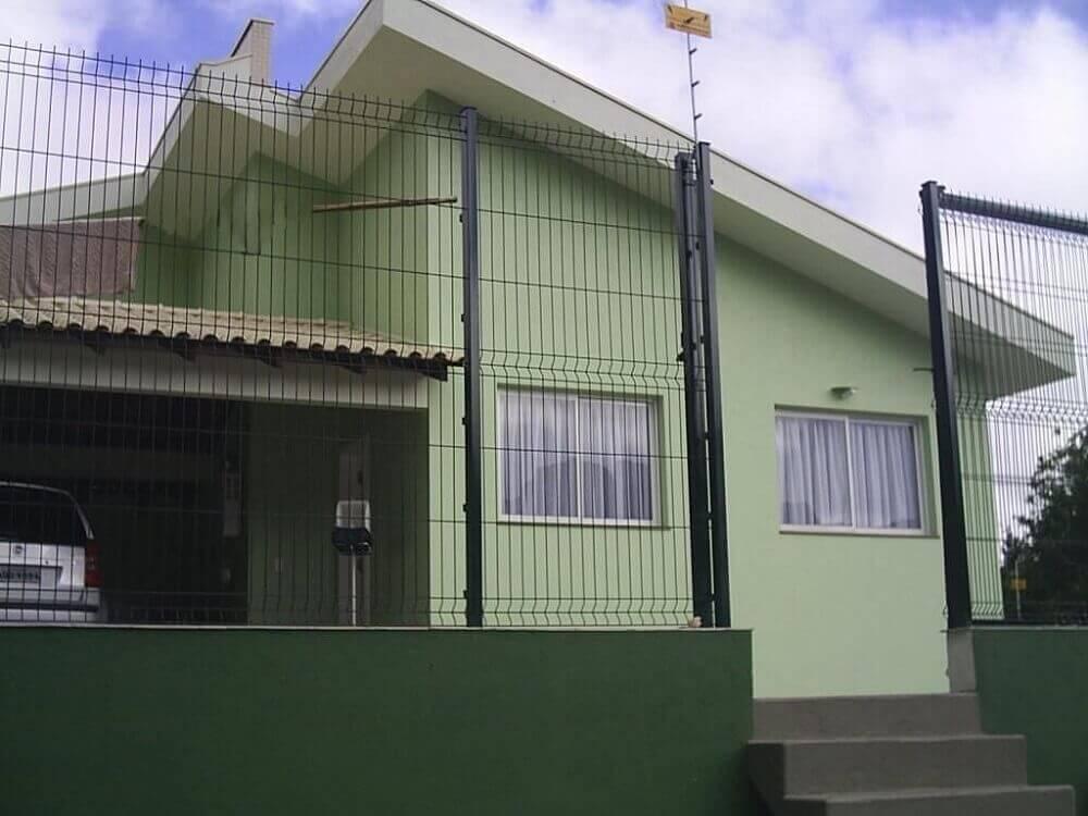 fachadas de casas fachada verde