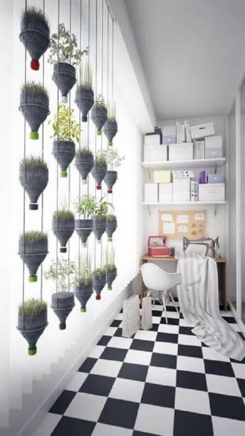 garrafa pet para horta vertical apartamento