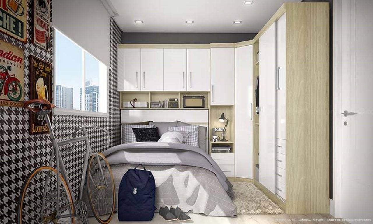 guarda roupa modulado para quarto com espaço pequeno