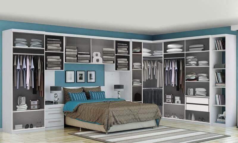 guarda roupa modulado para quarto de casal completo
