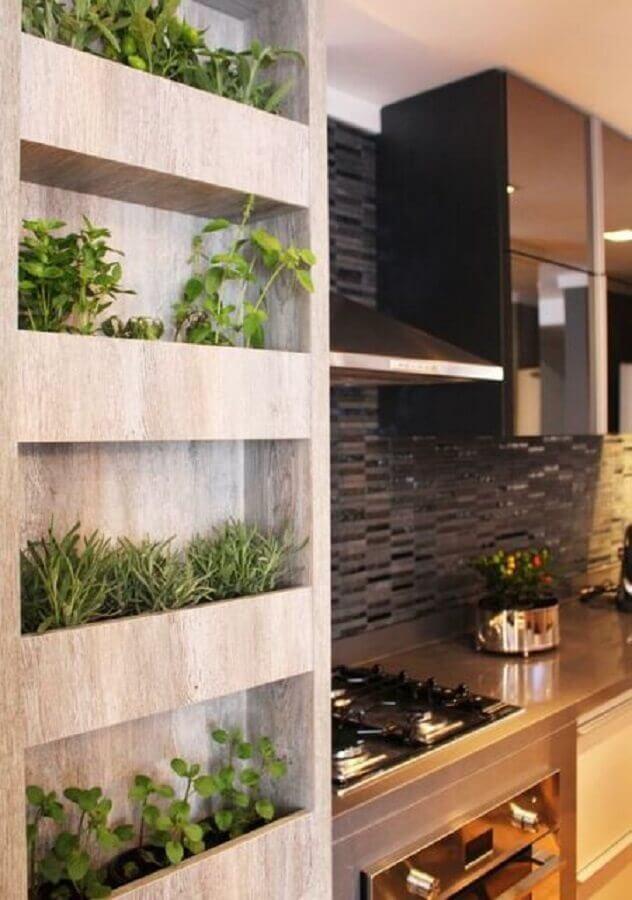 horta vertical apartamento com nichos embutidos