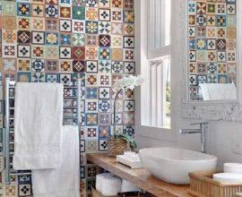 ladrilho hidráulico para banheiro decorado