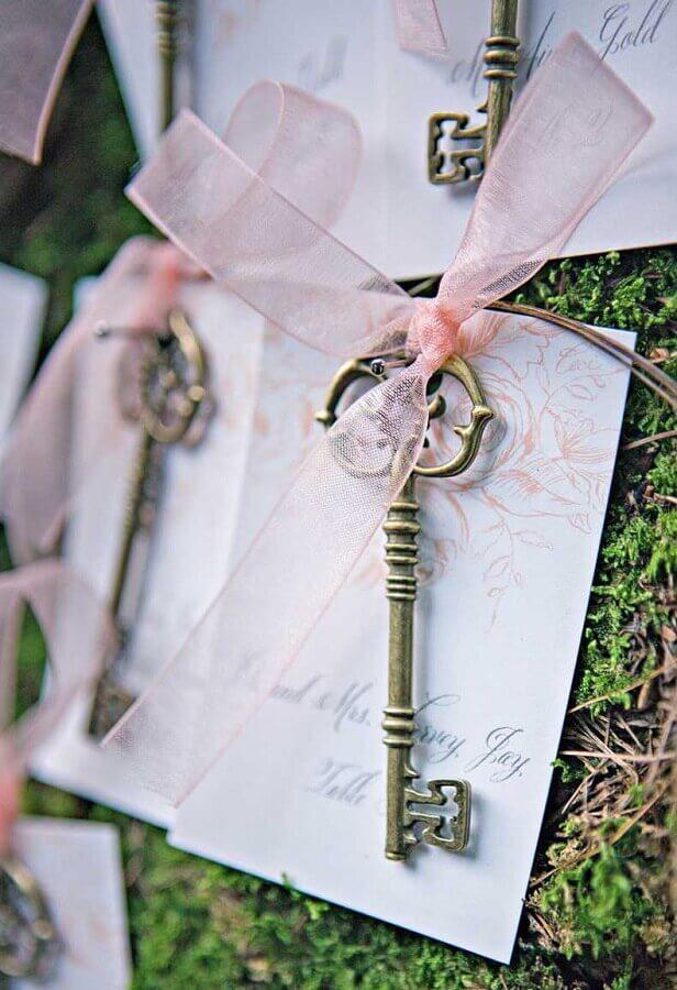 linda chave lembrancinhas para casamento