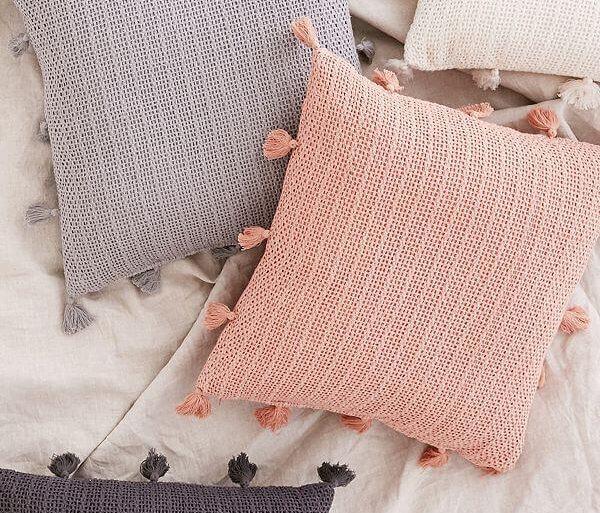 lindas capas de almofadas de crochê