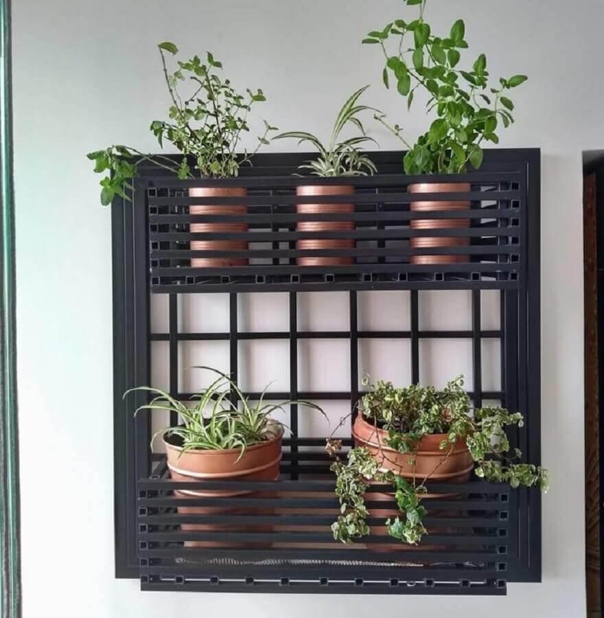 lindo modelo de mini horta em apartamento