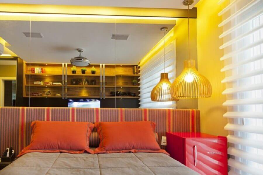 lustre para quarto com decoração colorida Foto Joana & Manoela