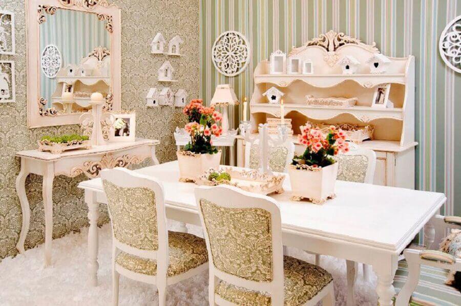 móveis para sala de jantar com estilo provençal