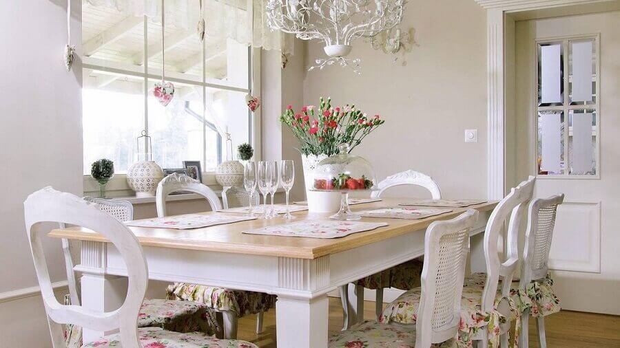 móveis provençal rústico para sala de jantar
