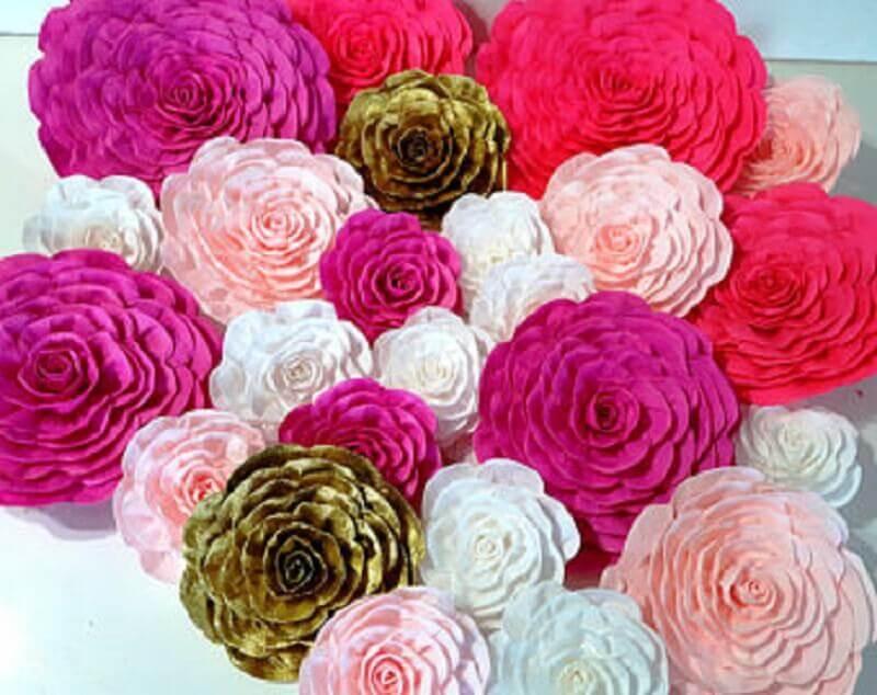 maxi flores de papel