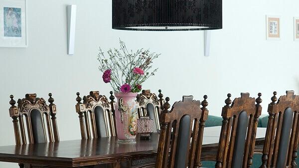 mesa para sala de jantar colonial