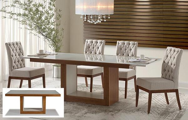 mesa para sala de jantar com extensível