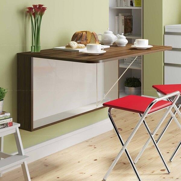 mesa para sala de jantar dobrável